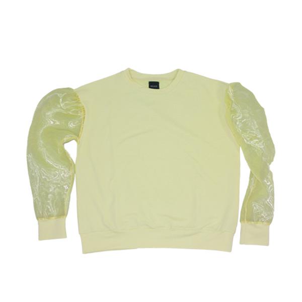 gul organza sweatshirt - trendy pastelgul sweatshirt
