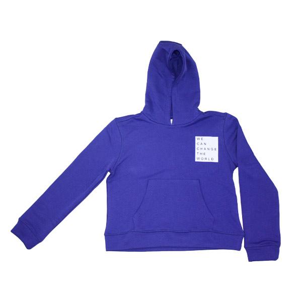 statement hoodie til teenager lilla