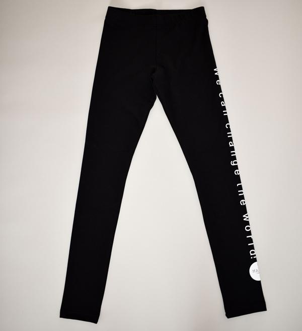 Sorte bløde leggings i god kvalitet med statement til børn