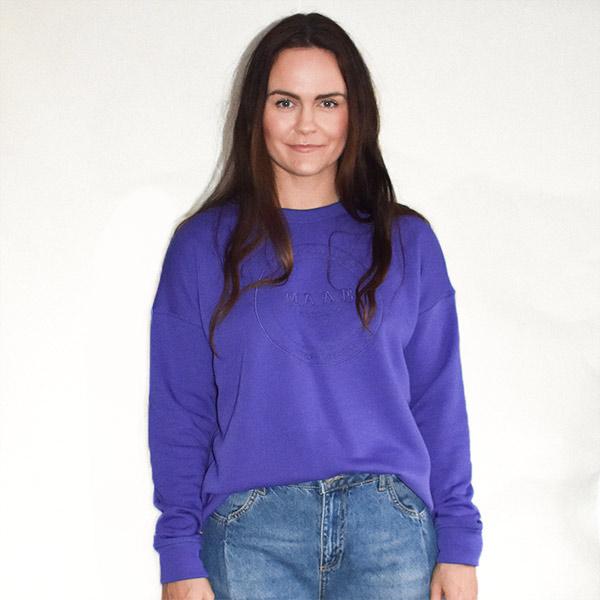 lilla sweatshirt med print