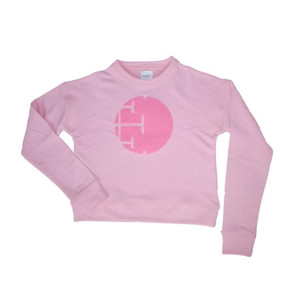 lyserød sweatshirt