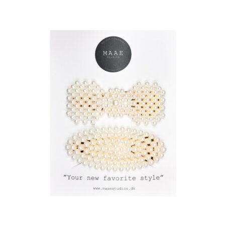 Hårspænder med perler
