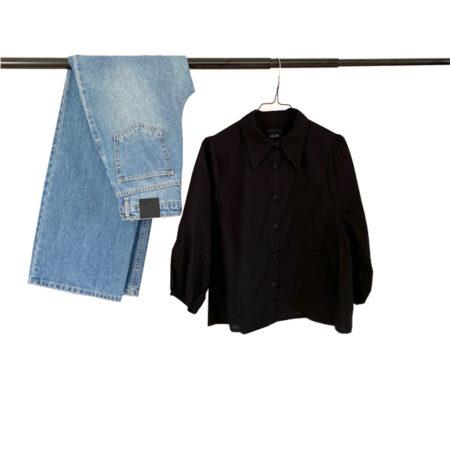 Sort skjorte til kvinder
