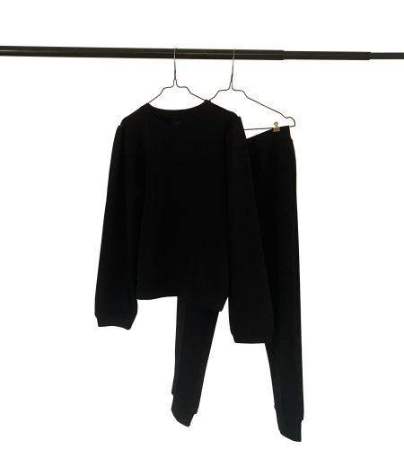 Sorte sweatpants i lækker kvalitet og med god pasform