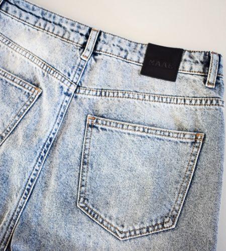 Blå stonewashed jeans i lækker kvalitet